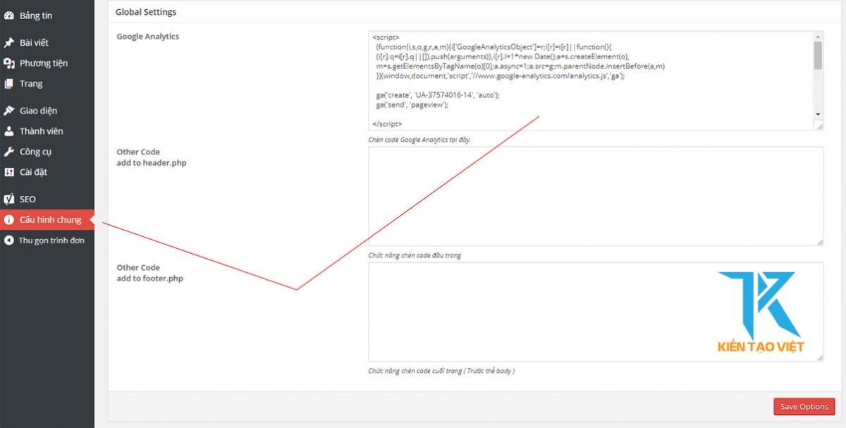Cài đặt Google Analytic trên Kientaoviet.net