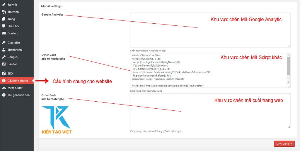 Cấu hình chung chuẩn SEO cho website - kiến tạo việt